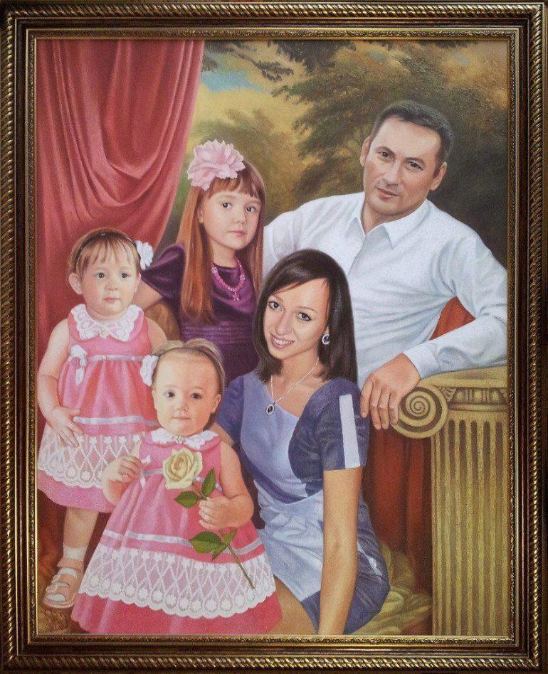 Семейный портрет маслом в Алма-Аты — правильная традиция…