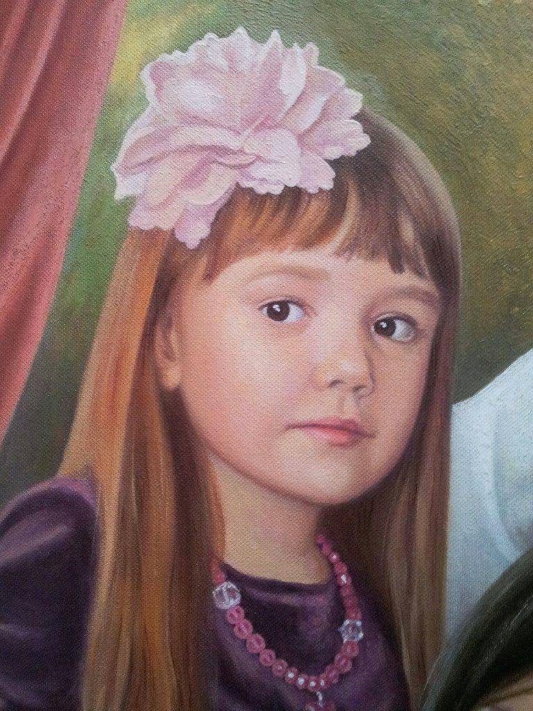 Семейный портрет на холсте Киев