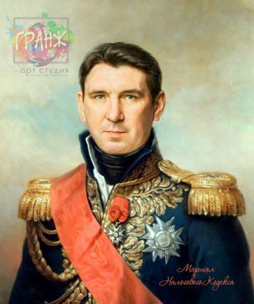 Портрет по фото на холсте в подарок мужчине Алма-Ата