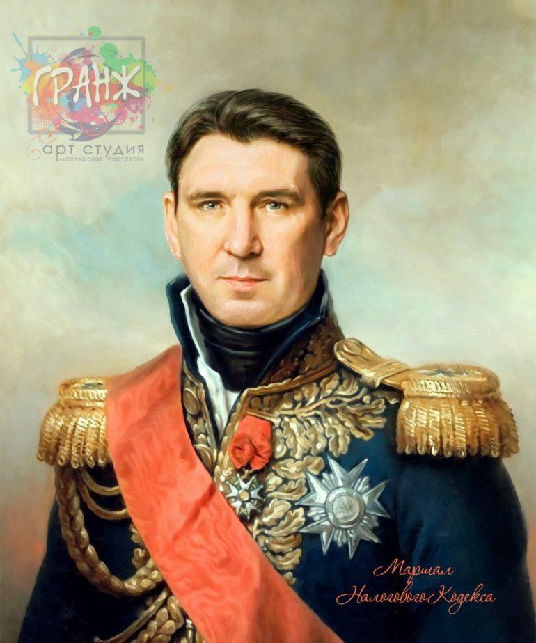Портрет по фото на холсте в подарок мужчине на 23 февраля Алма-Ата