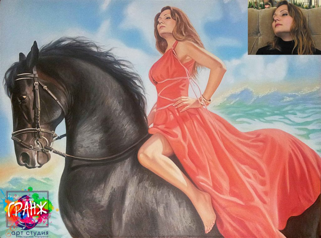 Заказать портрет маслом по фотографии в Одессе