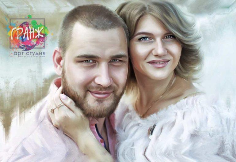 Где заказать портрет по фотографии на холсте В Алма-Ате?