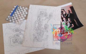 Картина по номерам по фото, портреты на холсте и дереве в Алма-Аты